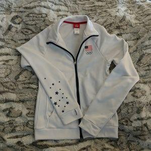 Girls white Team USA jacket
